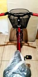 Bicicleta Caloi aro 26 toda no rolamentos quadro aço inoxidável cubos aço inox nova