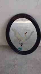 Decoração: espelho de parede em jacarandá