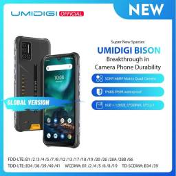 Umidigi Bison ip68/ip69k(ultra resistente), quad câmera, 6gb + 128gb nfc