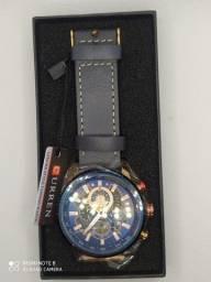 Relógio masculino curren 100% funcional