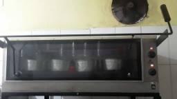 Forno elétrico, Balcão de vidro, Refresqueira, Balcão de inox