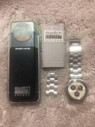 Relógio Swatch Irony Chrono Pulseira em Aço