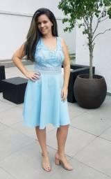 Vestido de festa curto Azul Serenity