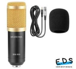 Microfone Profissional BM 800 Condensador Para Gravações e Estúdio
