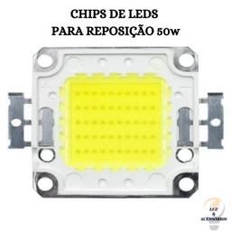 Chip Led 50w Reposição De Refletor - Branco Frio