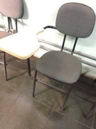 Cadeira universitária sala de reunião, escola, escritório, pouco usada