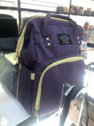 Bolsa bag com berço portátil