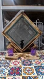 Pingueiro artesanal no tijolo de vidro