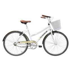 bicicleta retro com cestinha linda otimo estado