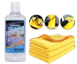 Título do anúncio: Kit Cristalizador De Vidros Hidro-repelente Pano Microfibra