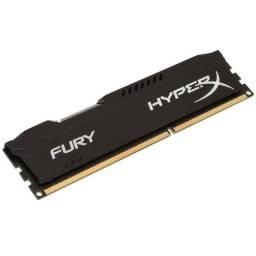 Memória HyperX Fury, 8GB, 1600MHz, DDR3, CL10, Preto - Loja Natan Abreu