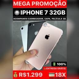 iPhone 7 32gb SUPER PROMOÇÃO, aceitamos seu iPhone usado na negociação.