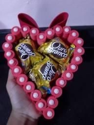 Mini coração com bombons