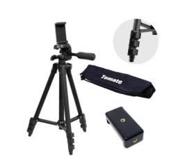 Título do anúncio: Tripe Profissional Camera e Celular Universal 1,27m Tomate