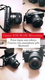 Câmera Canon EOS M100 pouco usada