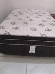 Cama Box Conjugado Casal Ortobom Union Estrutura Ortopédica - (138x188x43)