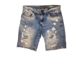 bermuda jeans rasgada