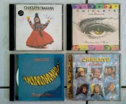 4 CDs originais antigos Chiclete com Banana