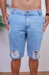 Bermuda jeans detonada tamanho 36 ao 44 atacado e varejo direto da fábrica