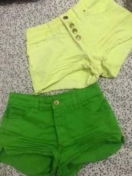 short verde e amarelo