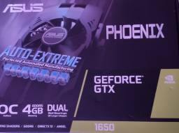 Placa de vídeo GTX 1650 Asus Phoenix OC 4 gb ram