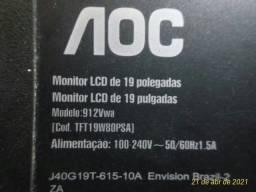Monitor AOC p/ retirada de peças
