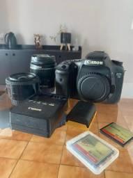 Título do anúncio: Camera Canon Eos 7d Usada - Com Lentes 35mm + 24-55mm