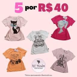 Kit (5 Blusas para Menina)