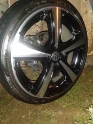 Troco rodas 17 reformadas por 15 de ferro ou de liga e mais volta