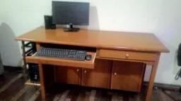 Mesa escritório, madeira maciça