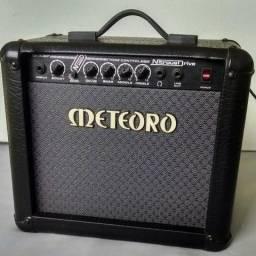 Guitarra XCort X-2 preta + Cubo Meteoro + Pedal Marshall JH-1