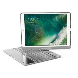 Capa Alumínio 360° Com Teclado Retroiluminado Ipad Air New Ipad 2017 2018 9.7'' Ipad Pro