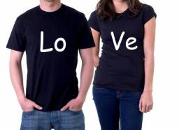 Camiseta Love Casal - Camiseta Preta Personalizada 06e217b6e4d7b