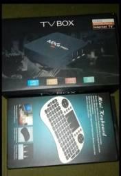 Tv box com mini teclado