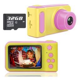 Câmera Digital Infantil Fotos e Vídeos Tela LCD