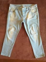 Calça jeans clara feminina tamanho 46