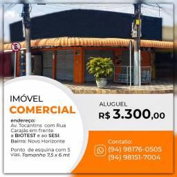 Ponto para Alugar 45m² por R$ 3.300,00/mês - Novo Horizonte - Marabá/PA