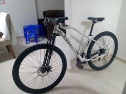 BikeAro 29, quadro 17, transmissão Shimano Tourney Tz