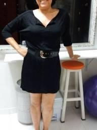 Preço de Black Friday! Lindo vestido preto da Folic