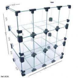 Baleiro Expositor Modulado em Vidro ? 0,40 x 0,45 x 0,20