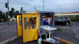Carretinha Baú Fechado Aluminio, Food truck, carrinho hot-dog, fazendinha, campismo,carga