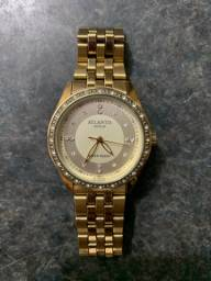 Relógio Atlantis Gold Com Pedras
