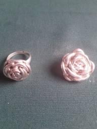 Vendo pingente e anel de prata