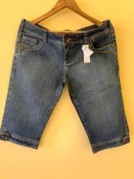 Bermuda Jeans Cantão Nova Com Etiqueta