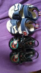 Sapatos de bebê nunca usados