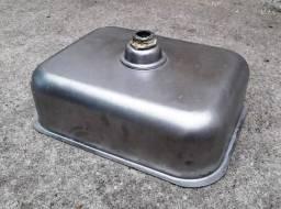 Cuba aço inox com válvula, 49x38cm, excelente estado (chapa grossa!)
