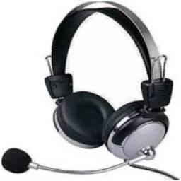 Headset Fone Ouvido + Microfone Skype Facebook Icq Lan House