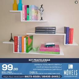 Nichos e prateleiras p/ decoração kits a partir de R$ 99,00.