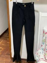 Calça leg estilo flaire com elastano 40 (M)
