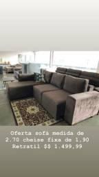 Sofa 270 de comprimento chaise 190